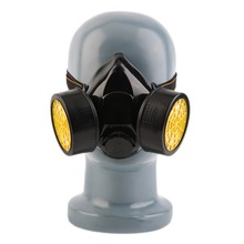 Firemen's Gas Mask Emergency Survival Safety Respiratory Anti-Dust Paint Respirator Mask with 2 Dual Protective Filter Pop use