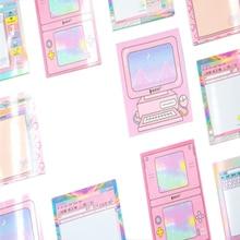 1 упак./лот милые компьютерная игра Форма Бумага самоклеящаяся Блокнот DIY Дневник клейкие для офиса Jack школьной
