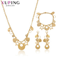 Xuping New Arrival Jewellery Hoop and Star 3 piece Sets Gold Color Plated Jewelry Sets for Women Christmas Gifts S38,3 63257