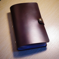 Genuine Leather Cover Pure Handmade Card Holder DIY Business ID Name Credit 60pcs Case Can Free