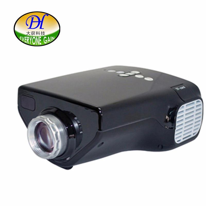 Everyone Gain 50 Lumens Pico Portable Children Early Education Projector with VGA USB HDMI AV TV