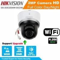 Hikvision Original English Version DS 2DE2204IW DE3 W 2MP Mini WIFI PTZ CCTV Camera 2 8