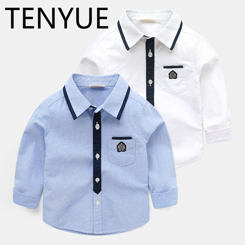 TENYUE, 2018 Spring, Autumn, Spring and Autumn, New Children's Shirt, Children's Baby Jacket, Boy's Long Sleeved Shirt. недорго, оригинальная цена