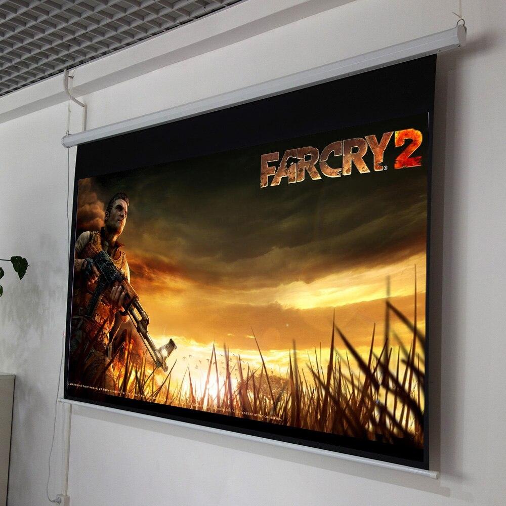 ThundeaL 100 pouces 16:9 écran de projecteur électrique Home cinéma école de commerce Bar LED motorisé DLP écran de Projection électrique - 6