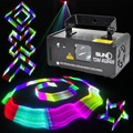 SUNY Remote 3D Stereoscopic DMX512 RGB Laser Stage Lighting Scanner DJ Show Powerful Light Effect Projector Fantastic Disco Beam