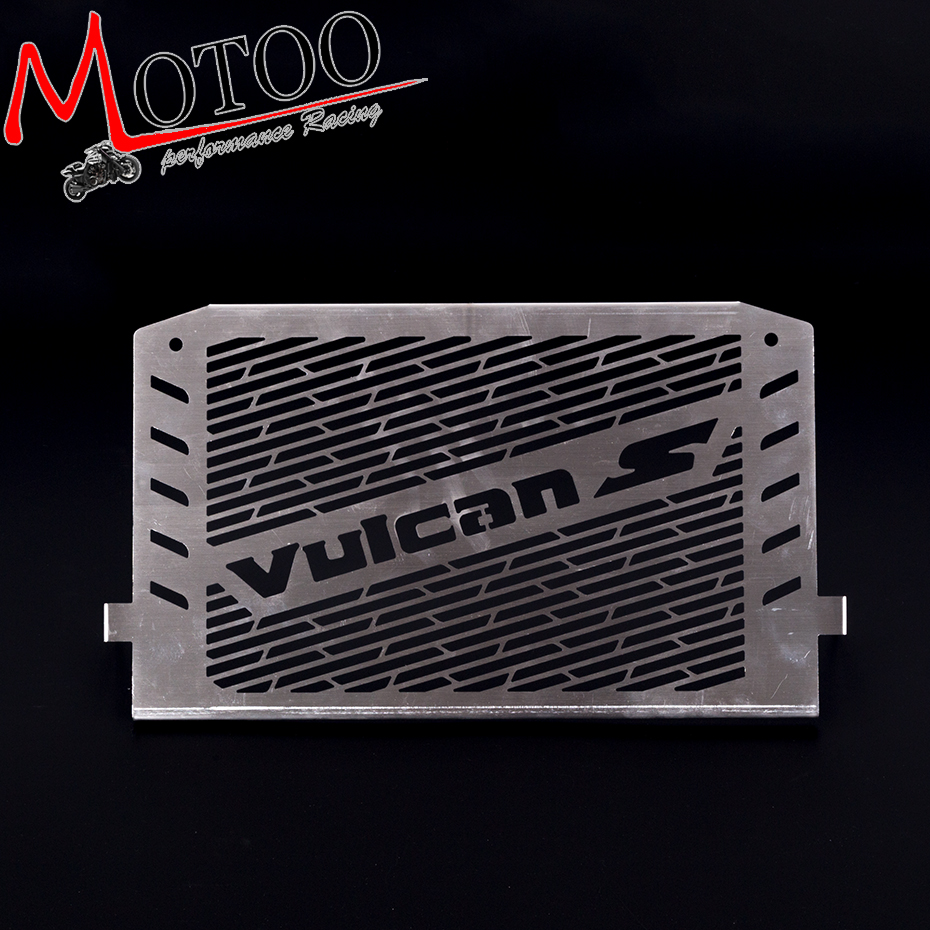 Motoo- Stainless Steel Motorcycle Radiator Guard Radiator Cover Fits For Kawasaki VULCAN S 15-16 VULCAN 650 motorcycle saddlebag bracket support bar for kawasaki vulcan vn900 solid steel chrome 24cm 2pcs high quality motorcycle covers