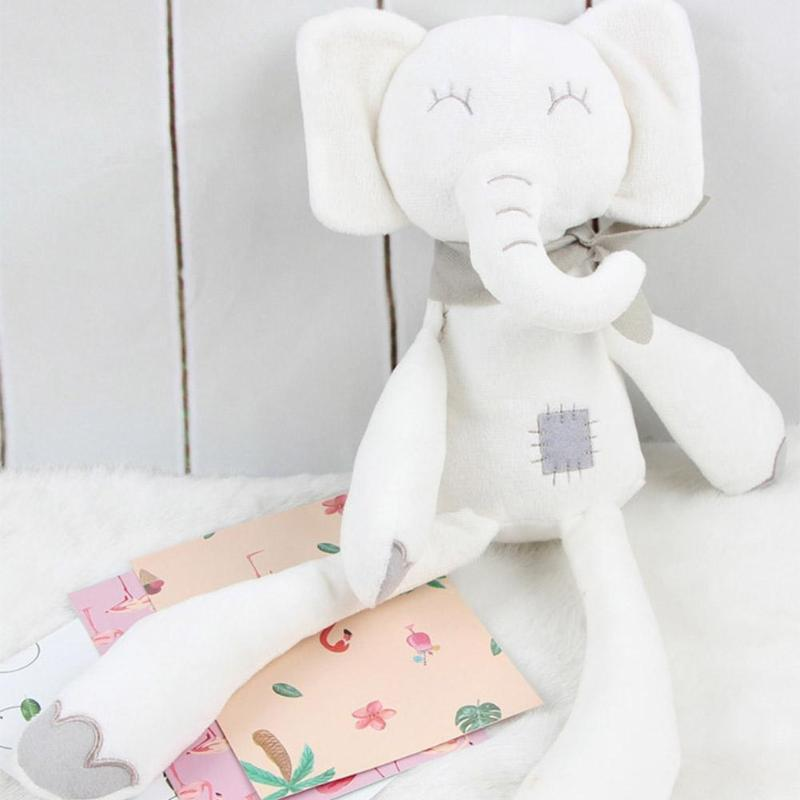 Cute Stuffed Toys Long Leg Elephant Sleeping Comfort Dolls Soft Plush Toy On Bed For Children Baby Kids gift cute soft simulated plush stuffed baby doll babies sleeping dolls children toys birthday gift for baby appease dolls comfort toy