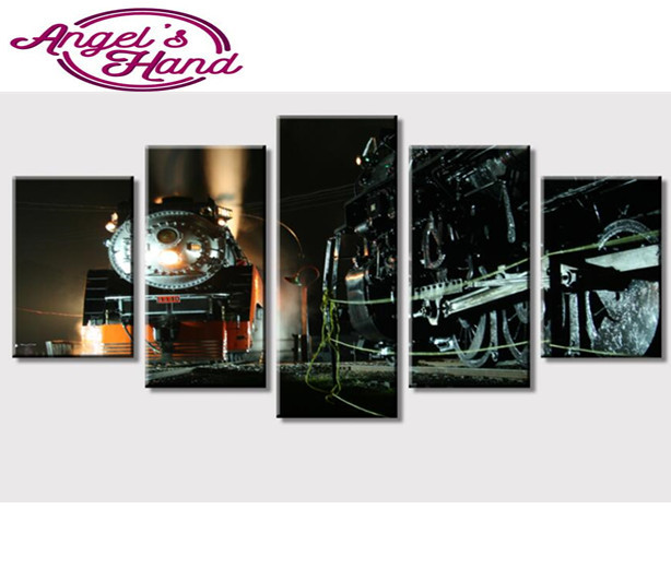5d diy diamond painting Vehicle Painting Wall Art Old Steam Train Travels Picture full round/square Modern Home Decoration gifts