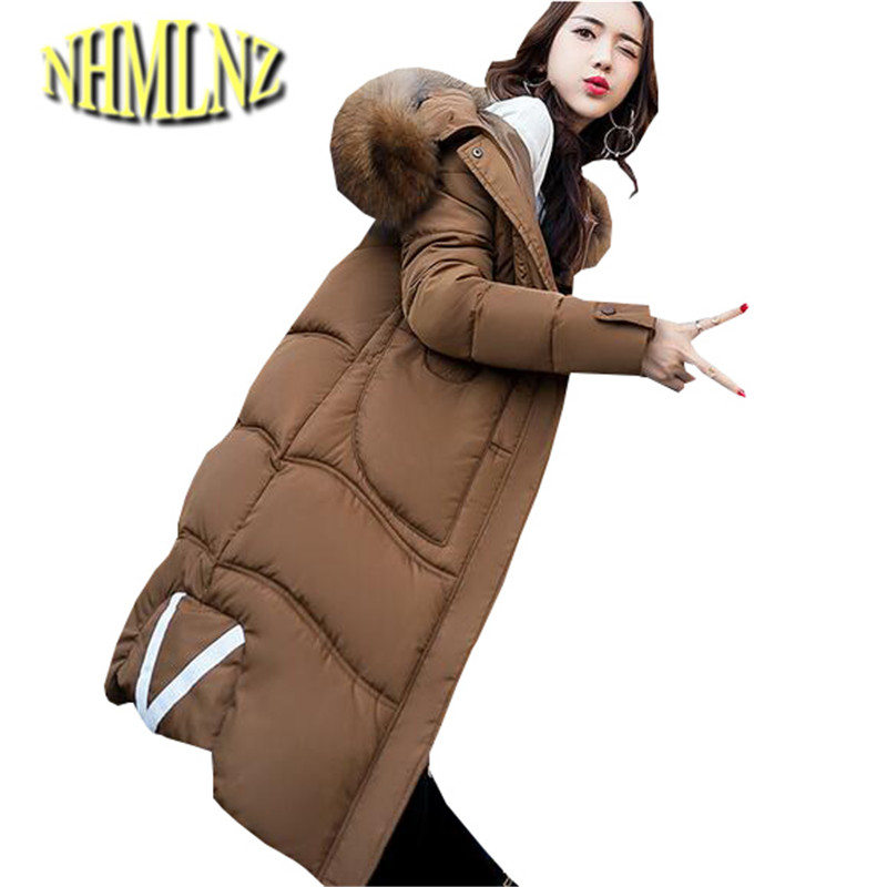2017 Winter Cotton Jacket New South Korea Style Women Coat With thick Warm Cotton Jacket Medium long Big yards Female Coat OK239 risk–adjusted lending conditions