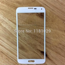 Free Shipping 20pcs/lot Front Galss Lens For Samsung Galaxy S5 i9600 LCD touch Screen Glass Digitizer Lens With LOGO