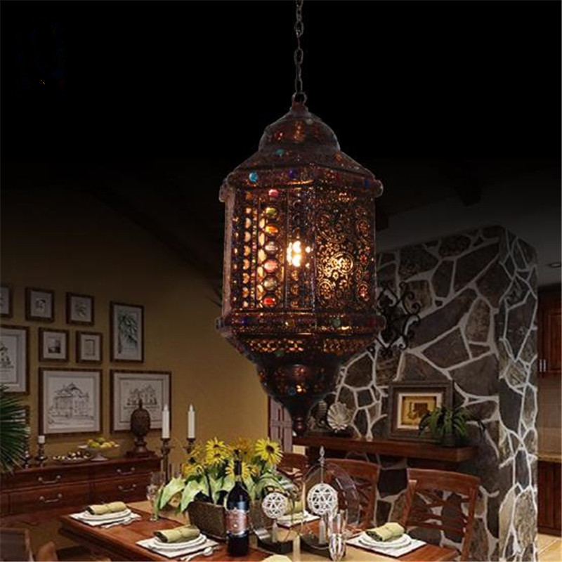 Oriental Mystery Bohemia Crystal Pendant Lamp Romantic Cafe Light Bar / Bedroom Decoration Lamp Free Shipping cafe mystery 4