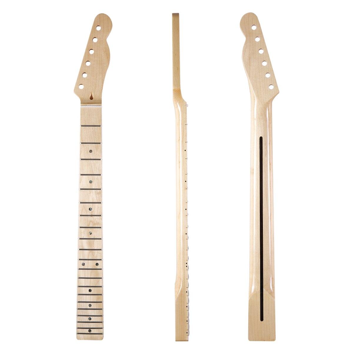 Dopro 21 Frette Brillant Canadienne Maple Tele Guitare Cou avec 10mm Tuner Trous Abalone Inlay et Os Écrou pour telecaster