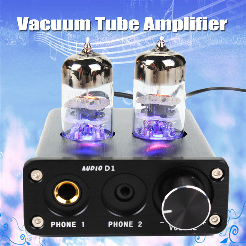 Mini 6J9 Vacuum Tube Headphone Amplifier USB DAC Stereo Audio Hi-Fi Amp AC100-240V 2016 brand new appj pa1601a 6j1 6p4 hifi wifi vacuum tube amplifier desktop digital audio tube amp hi fi lossless music player