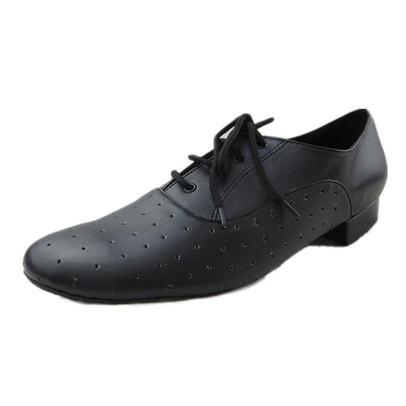 Soft Black font b Salsa b font Dance font b Shoes b font Man Latin font