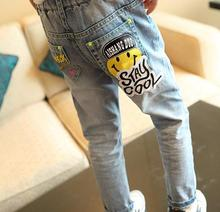 2016 New Autumn Kids Boys and Girls Jeans Cute Cartoon Character Printed Casual Denim Pants Children's Fashion Jeans