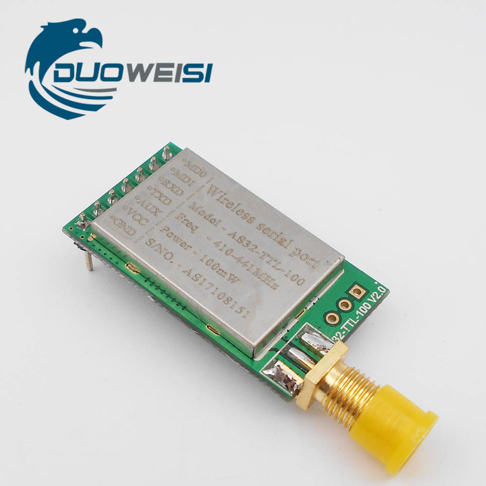SX1278 / SX1276 2pcs/lot Wireless Module AS32-TTL-10 433MHZ Wireless Serial Port | LORA Spread Spectrum 3000 m | UART Interface cc2541 bel4 0 mini bluetooth wireless serial interface passthrough module with low consumption