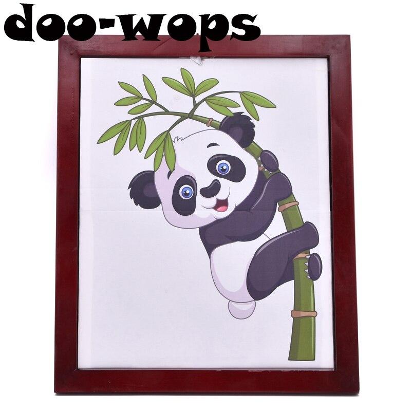 Panda cadre tours de magie en peluche Panda jouet apparaissant de tableau Magia magicien scène partie Gimmick accessoires Illusion mentalisme drôle