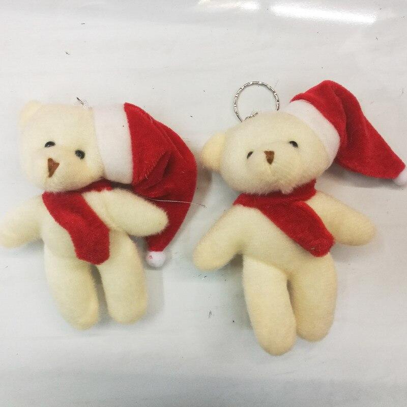 Hoomall 50PCS 12cm Hanging Drops Xmas Tree Ornaments Home Christmas Decorations Bear Dolls Bell DIY Gift