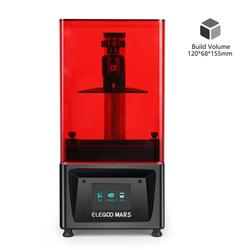 ELEGOO Mars UV Photocuring LCD 3D Printer with 3.5'' Screen Off-line Print 120cm(L) x 70cm(W) x 155cm(H) Printing Size