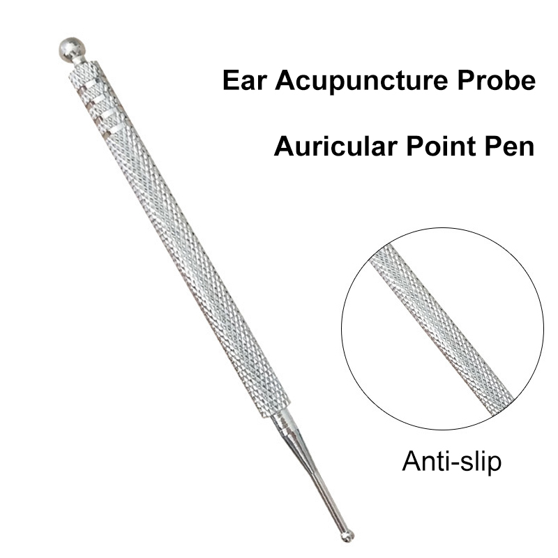 10cm Acupuncture Point Probe Stainless Steel Auricular Point Pen Beauty Ear Reflex Zone Massage Needle Detection Health Care auricular acupuncture point search ear detection pen ear acupoint search for ear auriculotherapy acupressure tips
