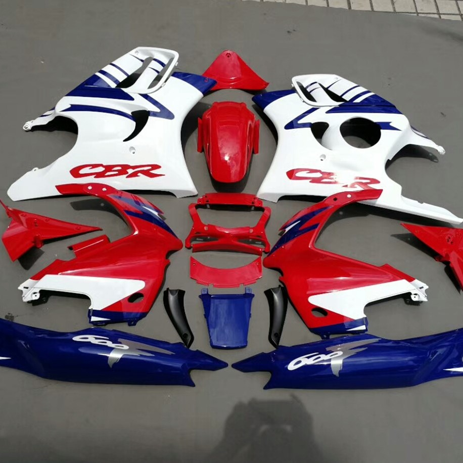 Motorcycle Full Bodywork Fairing Set For Honda CBR600F3 CBR600F CBR600 CBR 600 F3 1997 - 1998 97 98 Injection Fairings Red Blue