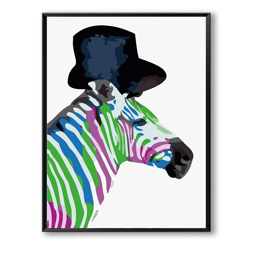 DIY oil painting by numbers calligraphy picture on canvas adult coloring paint by number colorful horse gentleman craft FSZ-360