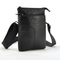Men Women Genuine Leather Fanny Waist Pack Mobile Cellphone Passport Wallet Organizer Belt Loop Bag Shoulder