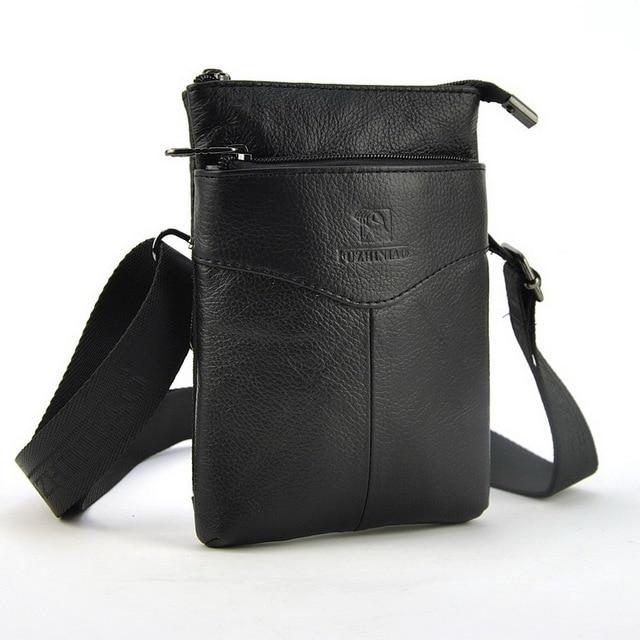 Men Women Genuine Leather Waist Pack Mobile Cellphone Passport Wallet Organizer Belt Loop Bag Shoulder