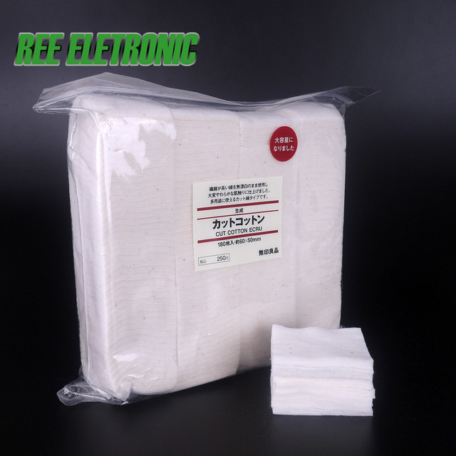 Muji Organic Cotton For RDA RBA Atomizer Coil Wick No Bleach Healthy Japanese Electronic Cigarette Cotton Huge Vapor