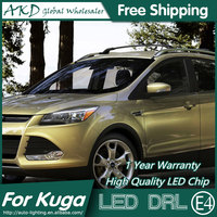 AKD Car Styling LED DRL for Ford Kuga 2014 2015 Escape Eye Brow Light LED External Lamp Signal Parking Accessories