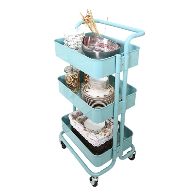 Three-tier mobile trolley home Shelf Kitchen Shelf Rascque Storage Rack shelf
