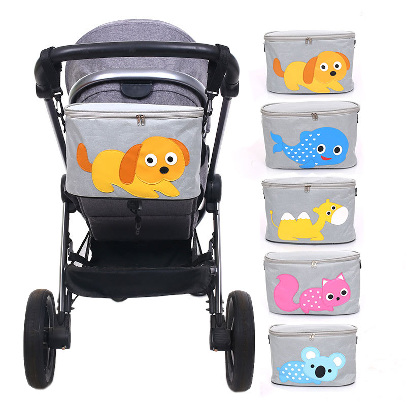 Baby Stroller Bag Large Capacity Hanging Bag stroller Organizer Bag Multi Compartment Maternity Bag Cartoon Storage Basket cartoon waterproof universal baby stroller bag organizer baby car hanging basket storage stroller accessories