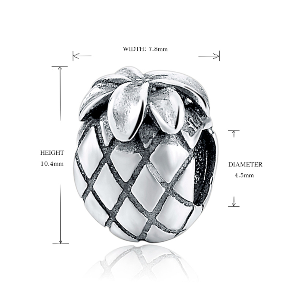Silver Galaxy 925 Sterling Silver Vintage Pineapple Beads For Women Fit Original pandora Charms Bracelet Fashion Jewelry in Beads from Jewelry Accessories