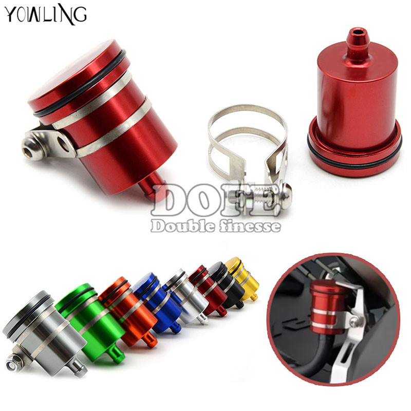 CNC Aluminum Motorcycle Clutch Tank Cylinder Master Oil Cup Brake Fluid Reservoir For yamaha YZF R125 R15 R25 r 125 15 25 mt-07 motorcycle brake fluid reservoir clutch tank oil fluid cup for yamaha yzf r25 r15 r6 r125 kawasaki z750 z800 fz8 fz1 fz6r mt09