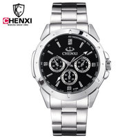 Luxury CHENXI Brand Full Stainless Steel Quartz Japan Movt Analog Wristwatches Wrist Watch For Men Male