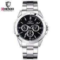 Luxury CHENXI Brand Full Stainless Steel Quartz Japan Movt Analog Wristwatches Wrist Watch For Men Male