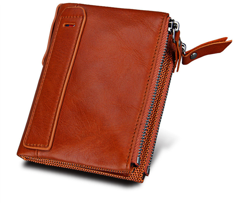 New Arrival Genuine Leather Men Women Wallets 7 Colors Female Short Wallet Coin Purses Small Vintage Wallet Card Holder HB53L vintage genuine real leather women short wallets small wallet coin pocket card holder female purses money bag qb8019
