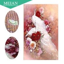 Meian, алмазная живопись Павлин 5D Сделай Сам, специальная форма, животное, алмазная вышивка, вышивка крестиком, стразы, Алмазная мозаика, распродажа, Декор