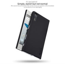 Nillkin матовый телефон сумка для Sony Xperia XZ жесткого пластика задняя крышка + Подарок Screen Protector для Sony Xperia XZ пк верхнюю крышку