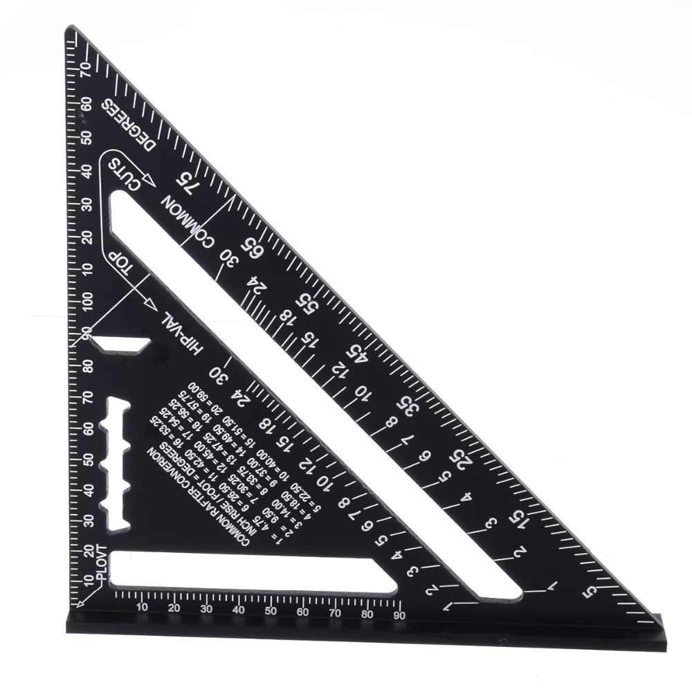 7inch Metric System Measuring Ruler Aluminum Alloy Speed Square