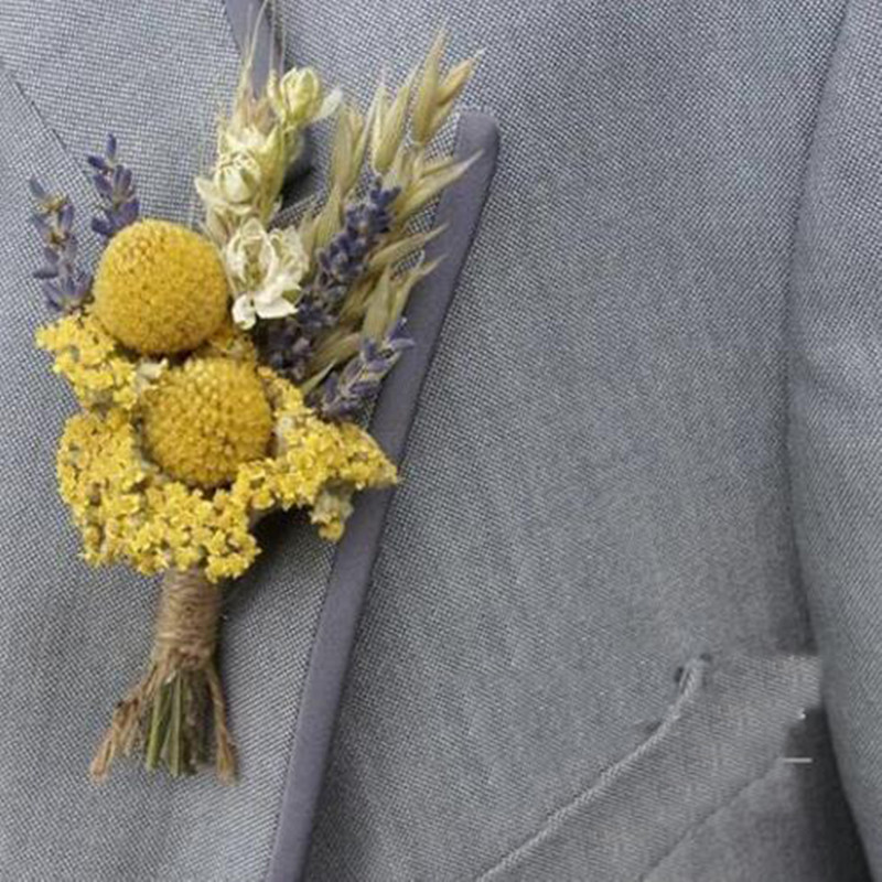 70c94120cb2 Men's Slim Fit Boutonniere Suits Men's Wedding dry Flower ...