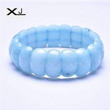 Natural Bule Jades Stone Bracelet Jewelry Handmade Beads Mans Bracelets Creative Gifts