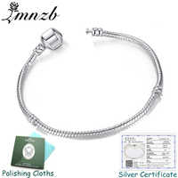 Haben Original Zertifikat Original 925 Sterling Silber Charme Armbänder für Frauen Geschenk Hochzeit DIY Schmuck BLC005