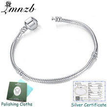 Have Original Certificate Original 925 Sterling Silver Charm Bracelets for Women Gift Wedding DIY Jewelry BLC005(China)