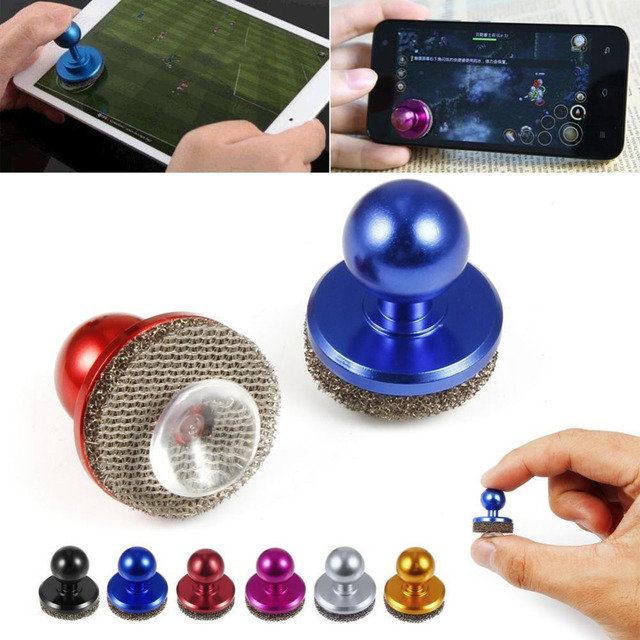 SILVER Mobile Phone Physical Joystick Fling mini Game Joysticks for iPhone Pad Touch Screen Mobile phone Rocker for SMART PHONE