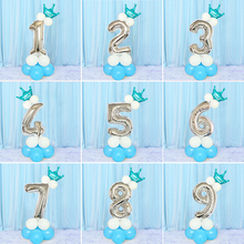 Kids Happy Birthday Balloon Set My First 1st Unicorn Party Decoration Baby Boy Girl Adult  2nd 3 4 One Year Supplies Rose Gold