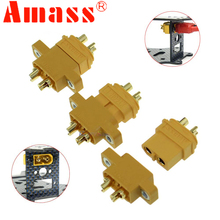 AMASS Connector Plug XT60E-M Mountable XT60 Male Plug Connector For RC Parts 2pcs/5pcs/10pcs wild scorpion 7 4v 1800mah 2cell 30c xt60 plug for rc model