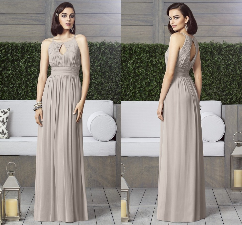 Wholesale Newest Simple Design Elegant Bridal Dress A Line: Aliexpress.com : Buy One Shoulder Maid Of Honor Gowns 2015