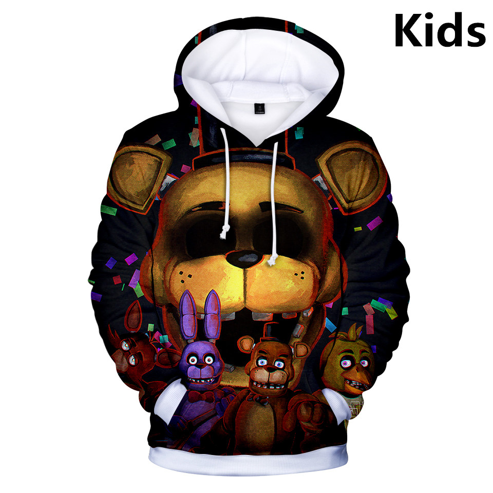 Sweatshirt Coat Hoodies Jacket Streetwear Girls Nights Children 2-To-13-Years Freddy's