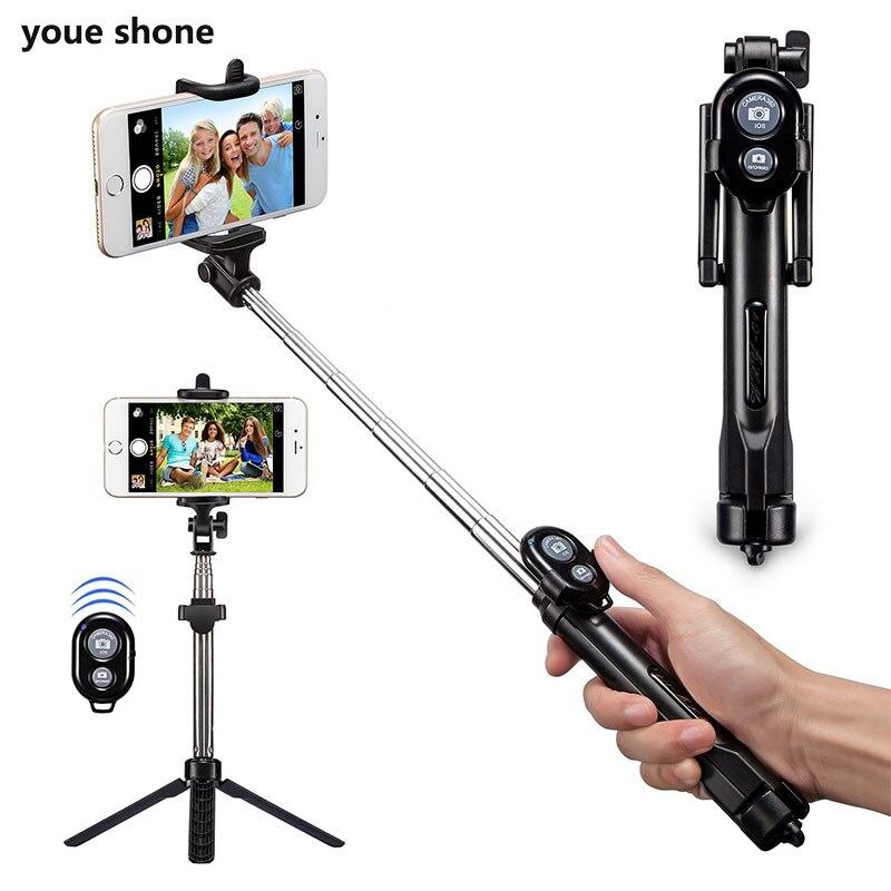 youe shone Bluetooth Wireless Selfie Stick Tripod Remote Handheld Monopod Self bastone selfy stik Camera for iphone IOS Android